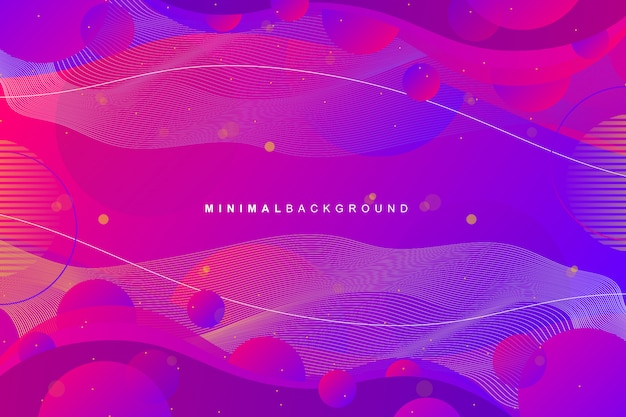 Abstract colorful gradient geometric background