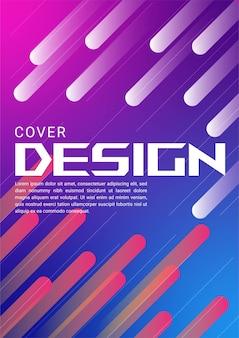 カバーと壁紙の抽象的なカラフルなグラデーションの幾何学的形状の背景。現代の幾何学的なベクトルデザイン