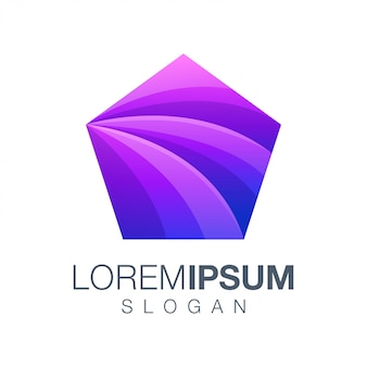 Abstract colorful gradient logo design