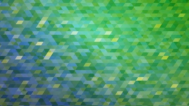 緑の色で抽象的なカラフルなグラデーションモザイクの背景