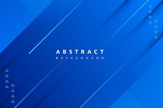 간단한 모양 배경으로 추상 화려한 gradint 블루