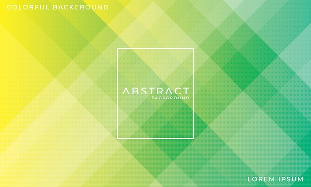 Abstract colorful green background with halftone effect