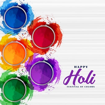 Abstract colorful gulal powder for holi festival background