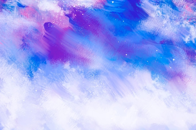 Abstract colorful hand painted wallpaper