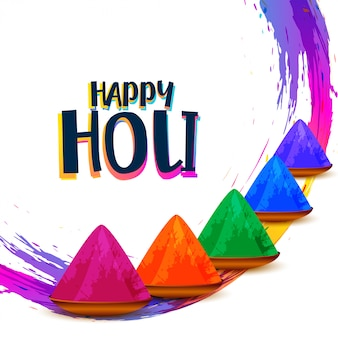 Abstract colorful happy holi indian festival wishes greeting card
