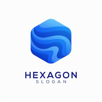 Abstract colorful hexagon logo design