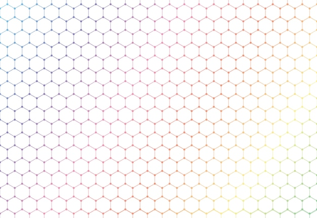 Abstract colorful hexagons seamless pattern