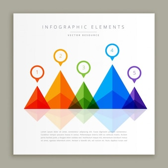 Abstract colorful infographic template