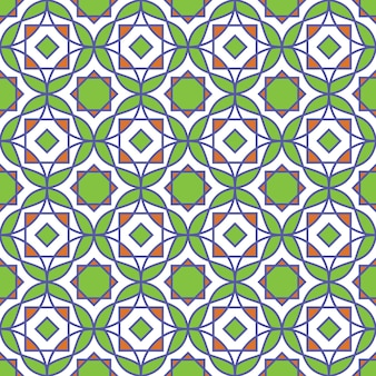 Abstract colorful islamic pattern