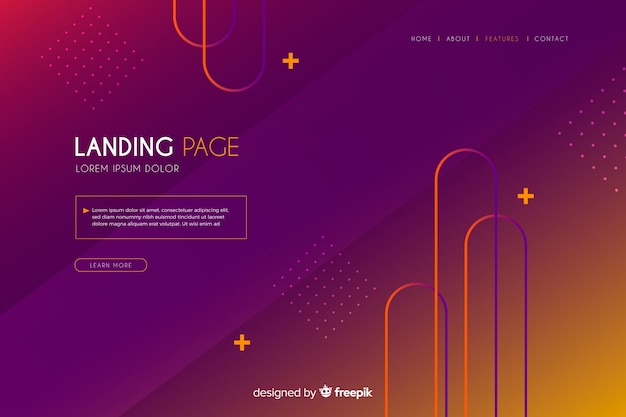 Abstract colorful landing page
