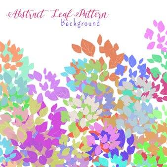 抽象的なカラフルな葉パターン