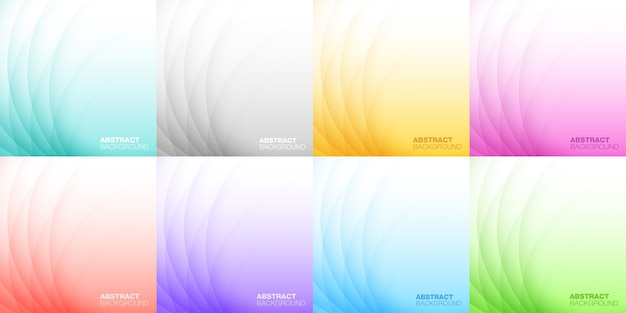 Abstract colorful light background set design background for shampoo soap medicament cosmetic vector