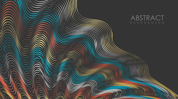 Abstract colorful line with vintage style