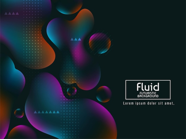 Abstract colorful liquid flow background vector