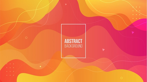 Abstract colorful liquid shape background