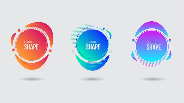 Abstract colorful liquid shape banner template