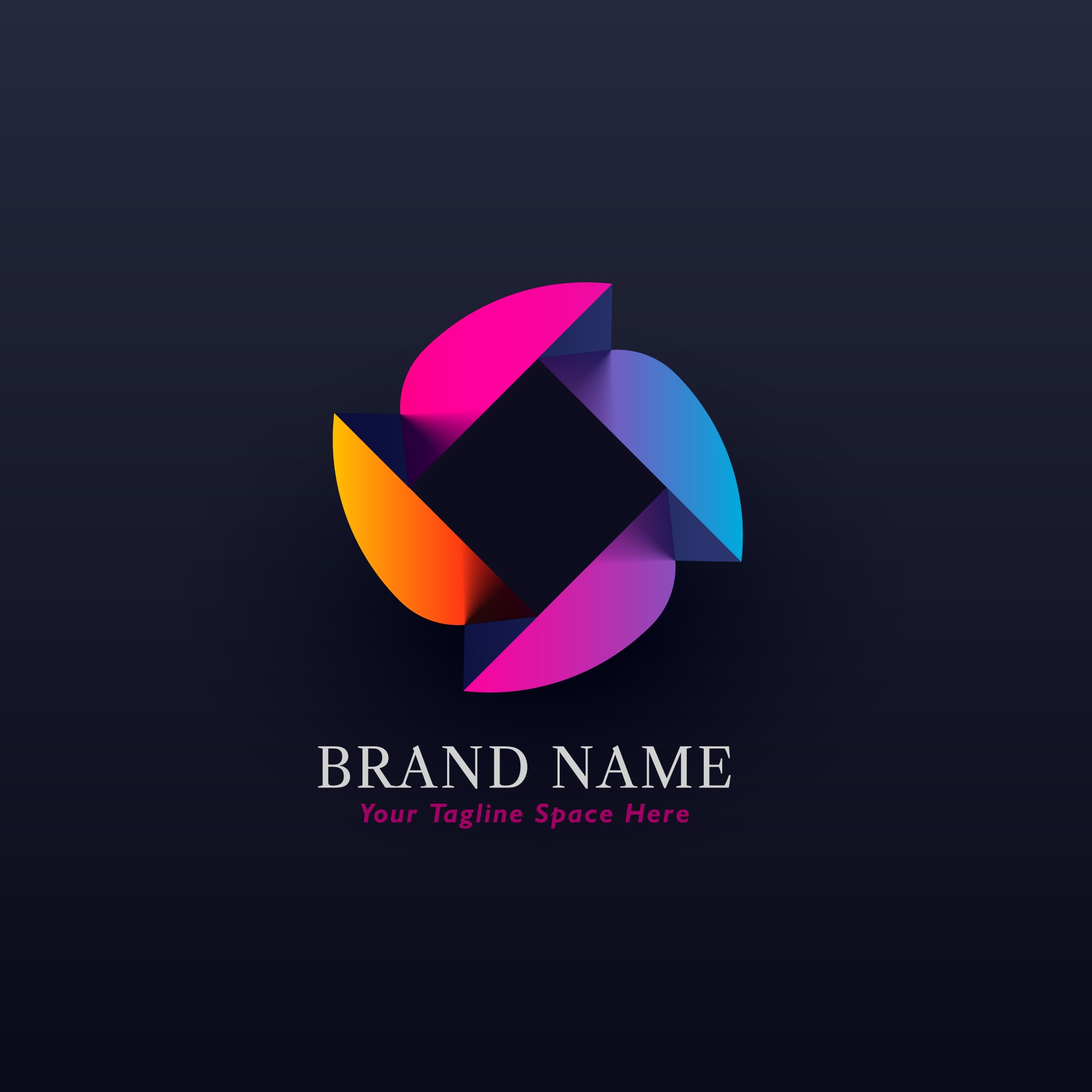 Abstract colorful logo concept