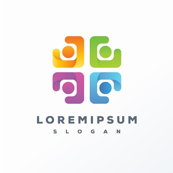 Abstract colorful logo design ready to use