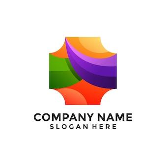 Абстрактный красочный шаблон логотипа
