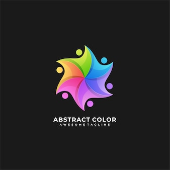 Abstract colorful logo.