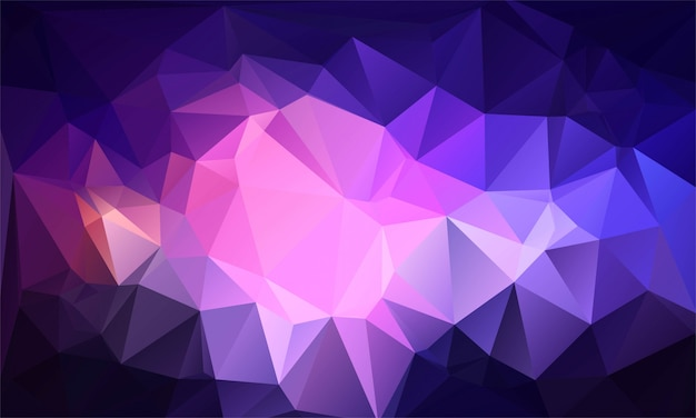 Abstract colorful low poly triangle shapes background