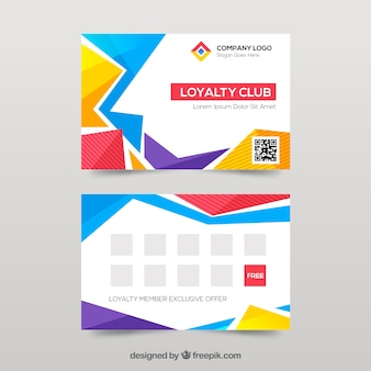 Abstract colorful loyalty card template
