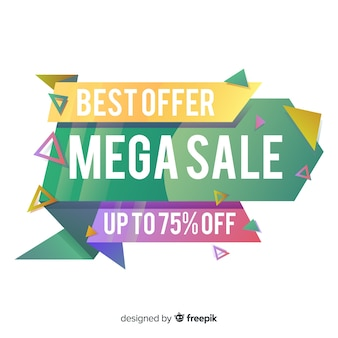 Abstract colorful mega sale banner