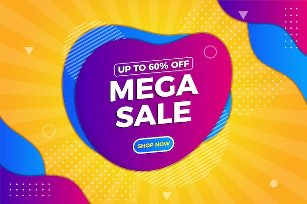 Abstract colorful mega sales background