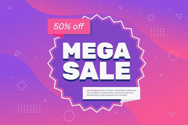 Abstract colorful mega sales wallpaper