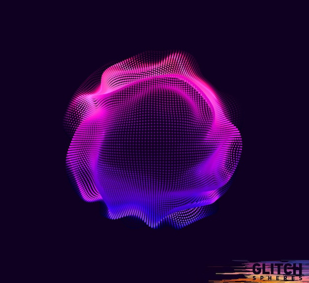Абстрактная красочная сетка на темном фоне
