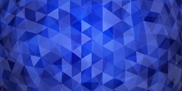 青い色の半透明の三角形の抽象的なカラフルなモザイクの背景