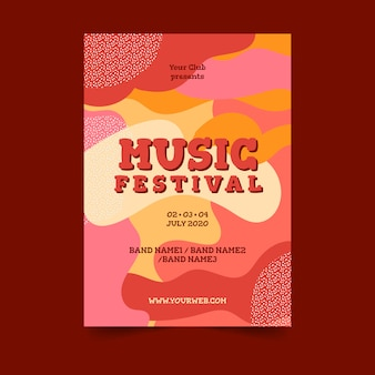 Abstract colorful music poster