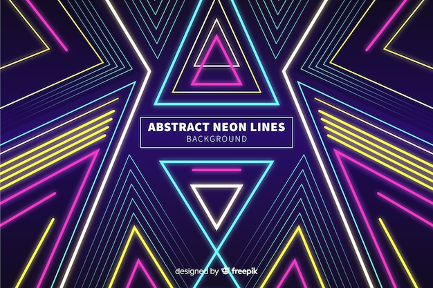 Abstract colorful neon lines background
