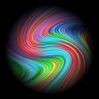 抽象的なカラフルな塗られた円の背景