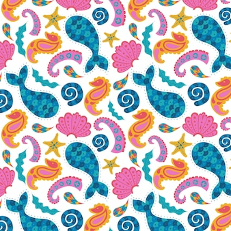 Abstract colorful paisley pattern