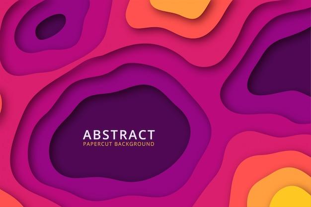 抽象的なカラフルなpapercutの背景。鮮やかな色のテクスチャデザイン