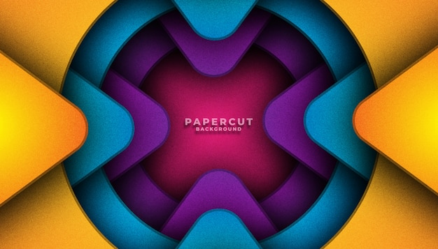 Abstract colorful papercut background