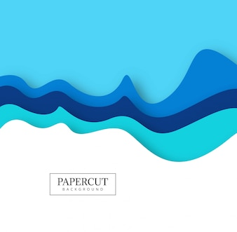 Abstract colorful papercut creative wave design vector