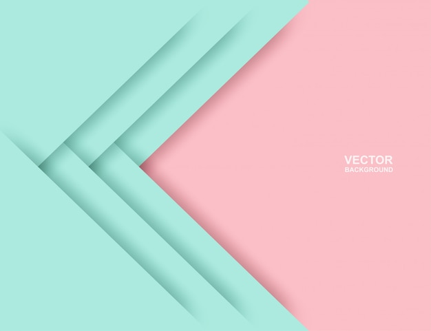 Abstract. colorful pastels pink ,mint green geometric shape overlap background.