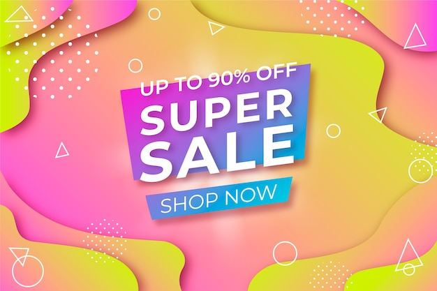 Abstract colorful promotional sales background