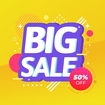 Abstract colorful promotional sales wallpaper concept