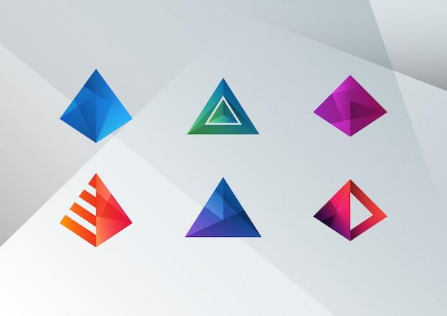 Abstract colorful pyramid shapes