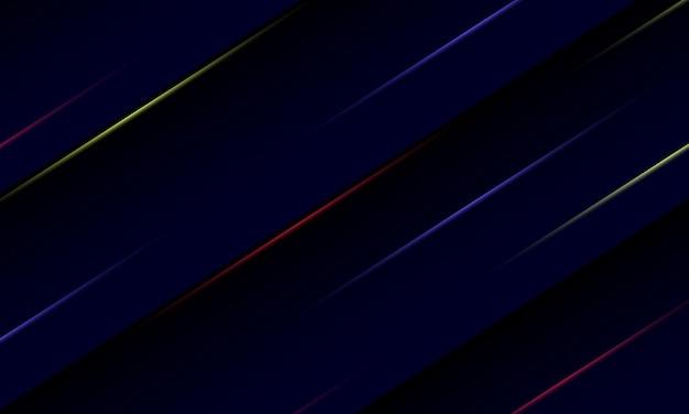 暗い背景にカラフルな光線を抽象化します。ベクトルイラスト。