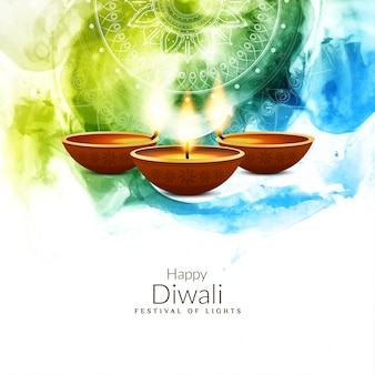Abstract colorful religious happy diwali background