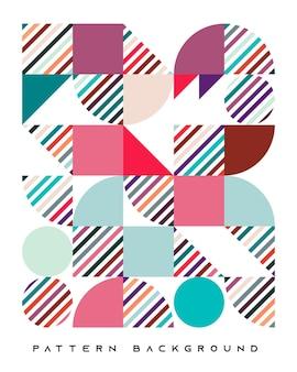 추상 화려한 복고풍 기하학적 모양 패턴 배경