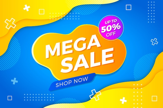 Abstract colorful sale background concept