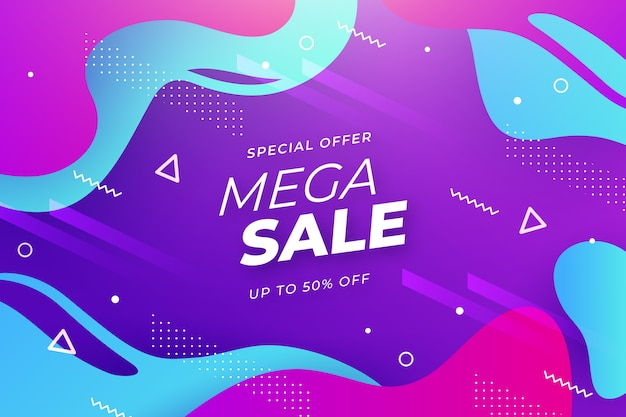 Abstract colorful sale theme for background