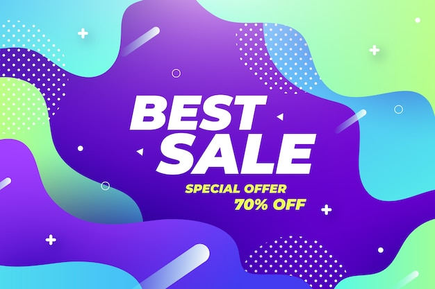Abstract colorful sale theme for wallpaper
