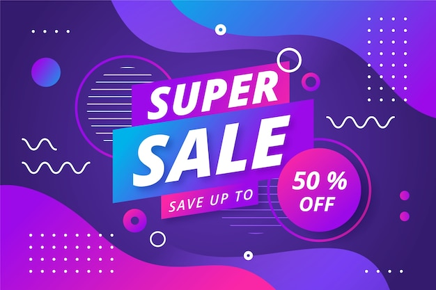 Abstract colorful sales 80s background