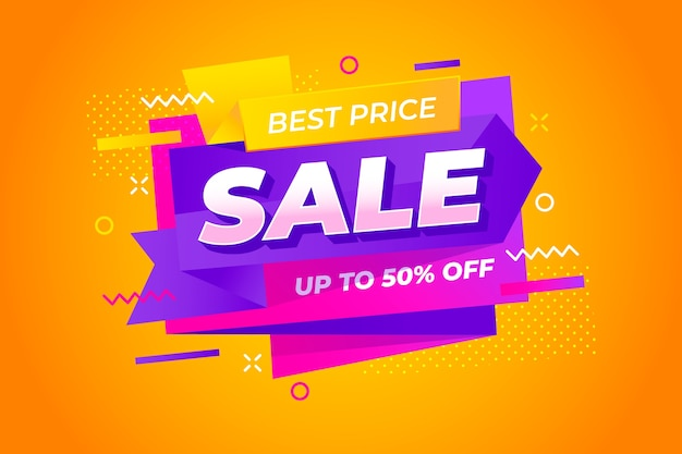 Abstract colorful sales background